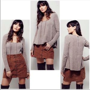 Free People Swing Out Sister Boucle Sweater